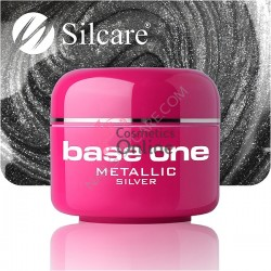 Gel UV Base One Silcare metalic Silver 5 ml